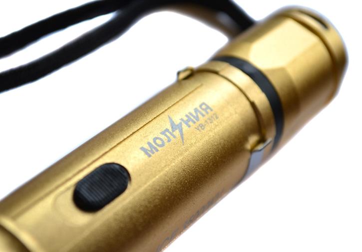 Электрошокер фонарь Молния 5 Gold Фото №3