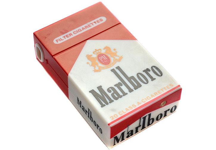 Электрошокер фонарь Пачка сигарет Marlboro Фото №2