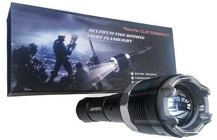 Электрошокер фонарь Молния YB-1310 Premium Cree Vip Original 2014 Фото №4